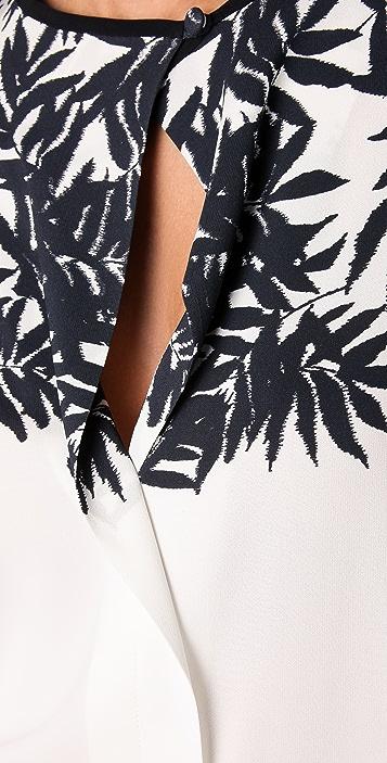 Peter Som Bamboo Print Blouse