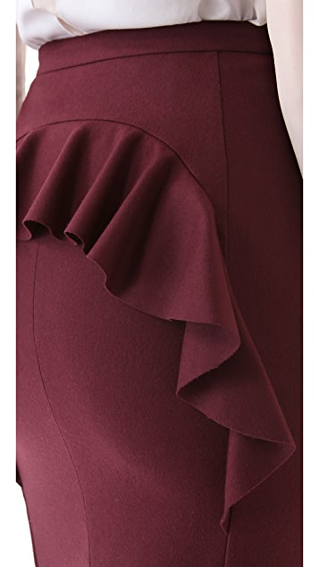 Peter Som Back Ruffle Skirt