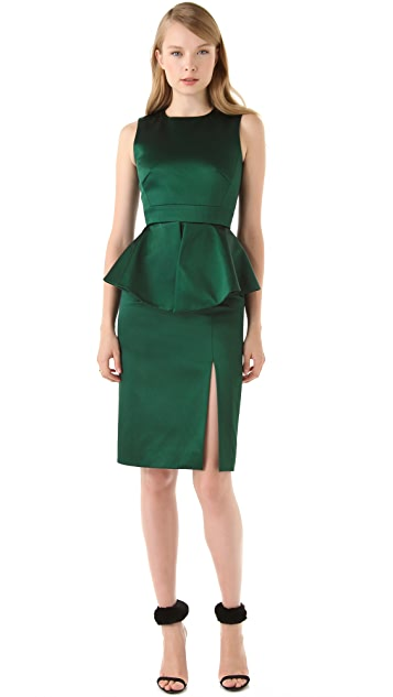 Peter Som Sleeveless Peplum Dress