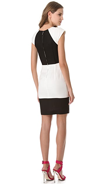 Peter Som Cutout Tuxedo Dress