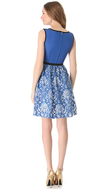Peter Som Burnout Damask Dress