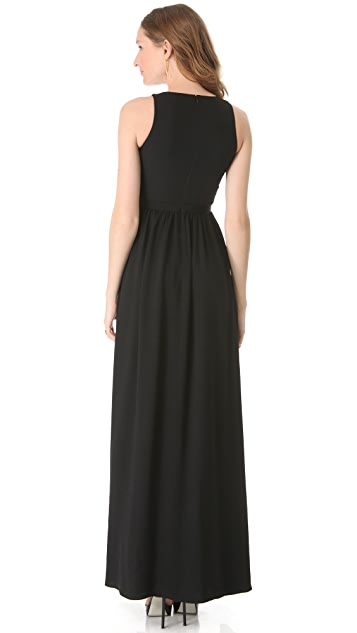 Peter Som Sleeveless Crepe Gown