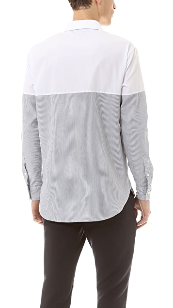 Public School Blocked Combo Sport Shirt