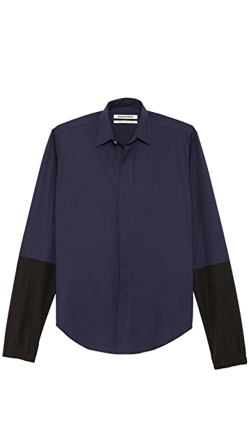 Public School Sport Shirt with Colorblock Sleeves