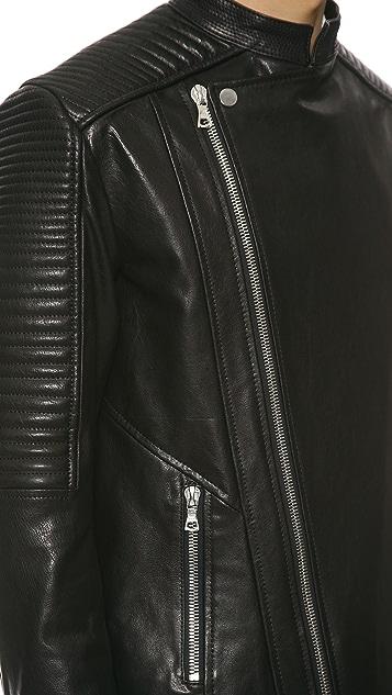 Public School Washed Coated Leather Jacket