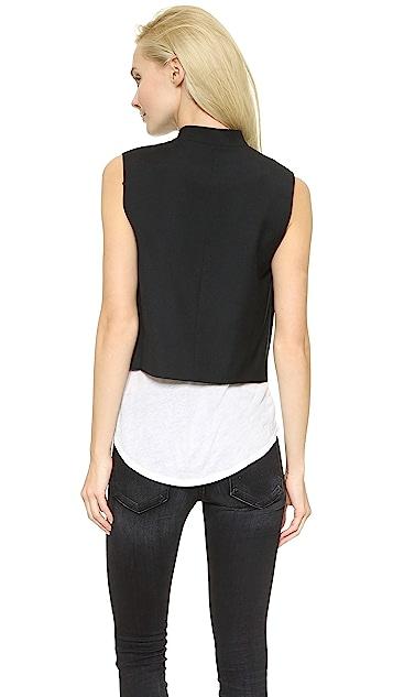 Public School Asymmetrical Boxy Vest