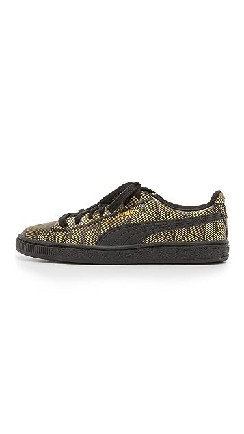 PUMA Basket Classic Metallic Sneakers
