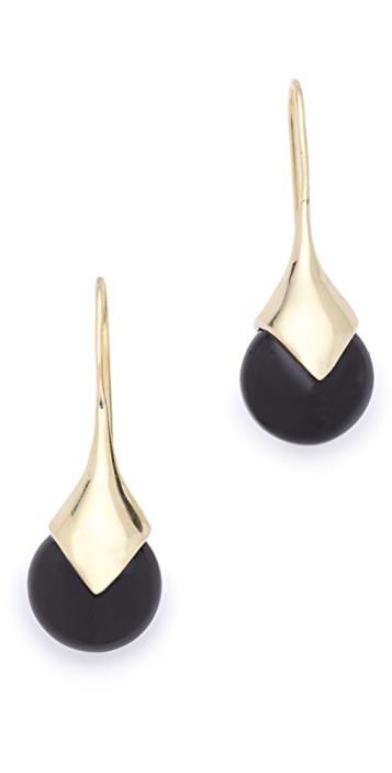 push BY PUSHMATAaHA Onyx Drop Earrings