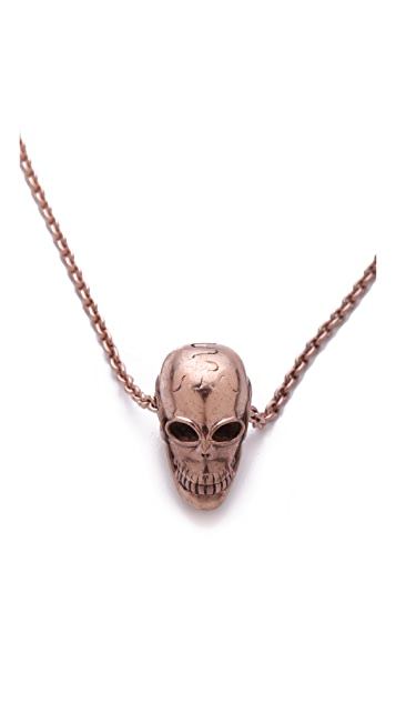 push BY PUSHMATAaHA Chain Skull Necklace