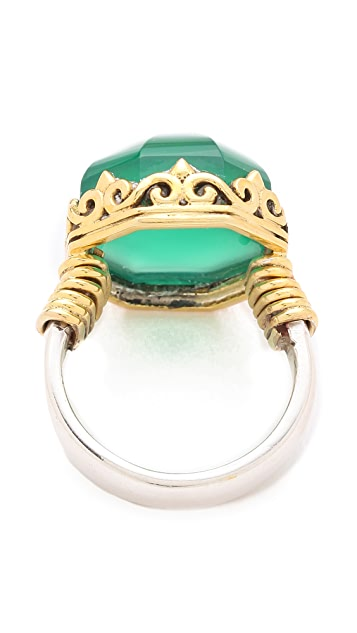 push BY PUSHMATAaHA Octagonal Point Ring