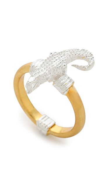 push BY PUSHMATAaHA Bondage Crocodile Ring