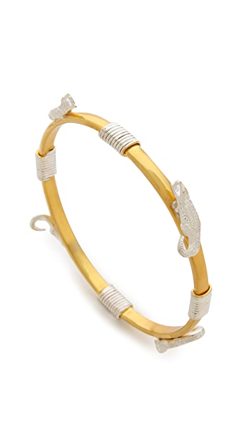 push BY PUSHMATAaHA Bondage Crocodile Bangle Bracelet