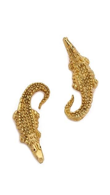 push BY PUSHMATAaHA Crocodile Earrings
