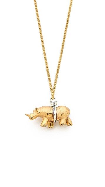 push BY PUSHMATAaHA Rhino Necklace