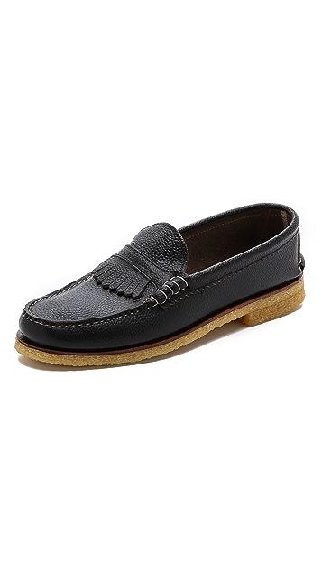 Quoddy Kiltie Crepe Loafers