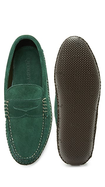 Quoddy Suede Penny Loafers