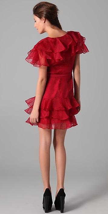 Rachel Zoe Ginger Tiered Ruffle Dress