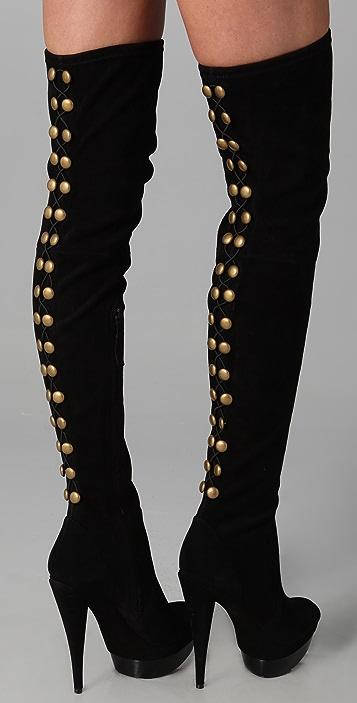 Rachel Zoe Brigitte Suede Over the Knee Boots