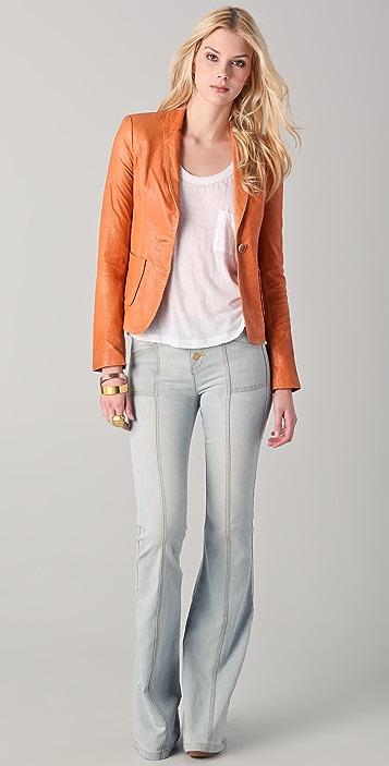 Rachel Zoe Sullivan II Leather Suit Jacket