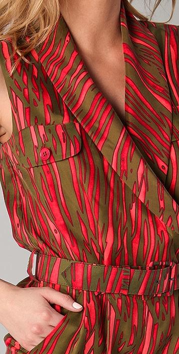 Rachel Zoe Eden Shawl Collar Romper