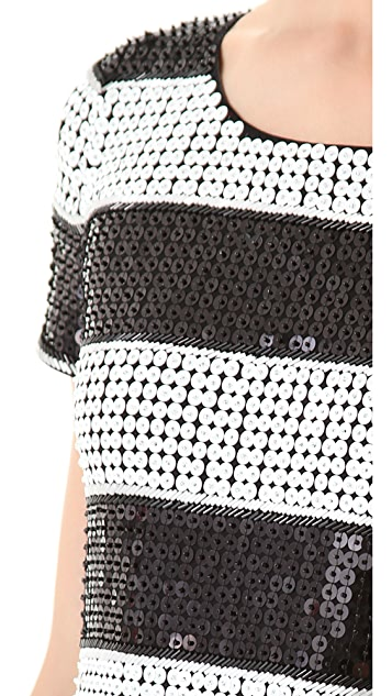 Rachel Zoe Karolina Stripe Sequin Dress