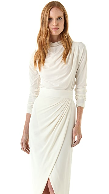 Rachel Zoe Liya Pleated Shoulder Top