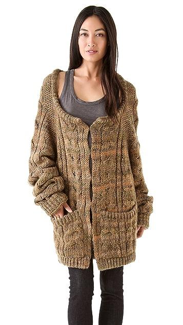 Rachel Zoe Beha Cable Knit Hoodie
