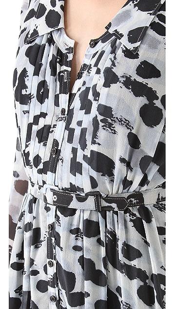 Rachel Zoe Devon Pintuck Shirtdress