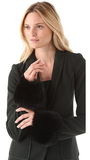 Rachel Zoe Fox Fur Wrist Cuff
