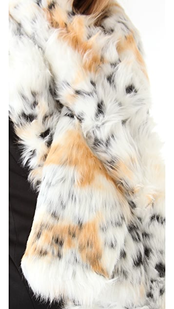 Rachel Zoe Snow Leopard Pull Through Scarf