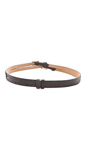 Rachel Zoe Double Signature Snakeskin Belt