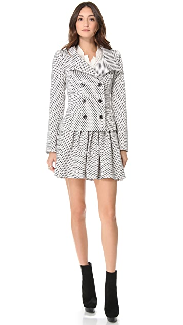 Rachel Zoe Hayden Funnel Neck Coat