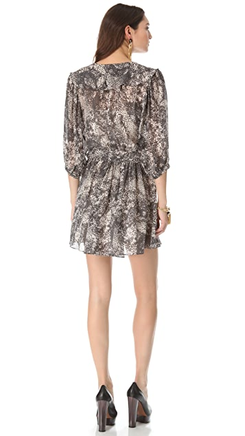 Rachel Zoe Pippa Surplice Ruffle Dress