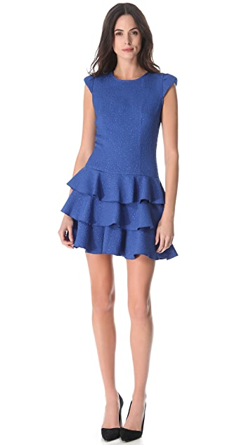 Rachel Zoe Ginta Drop Waist Ruffle Dress