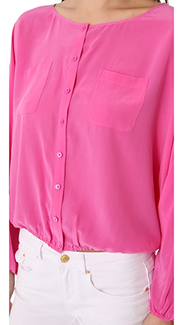 Rachel Zoe Michelle Button Down Dolman Top