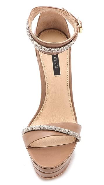 Rachel Zoe Katlyn Snake Wedge Sandals