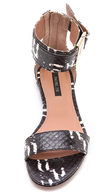 Rachel Zoe Gladys Snakeskin Sandals