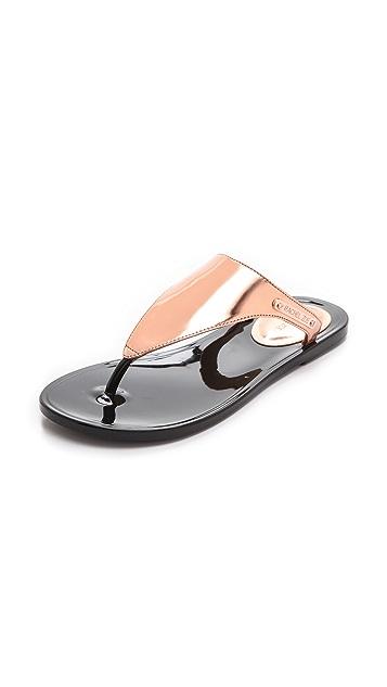 Rachel Zoe Cami Metallic Flip Flops