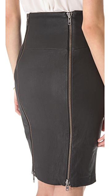 Rachel Zoe Brie Leather Pencil Skirt