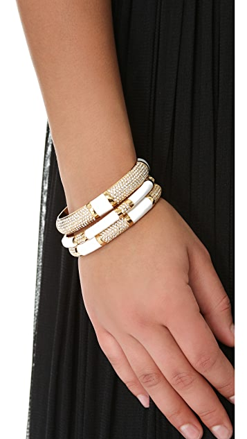 Rachel Zoe Pave Enamel Bangle Set