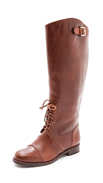 Rachel Zoe Georgia Lace up Army Boots