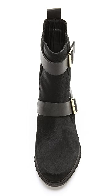 Rachel Zoe Terri Flat Haircalf Booties