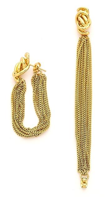 Rachel Zoe Looped Knot Earrings