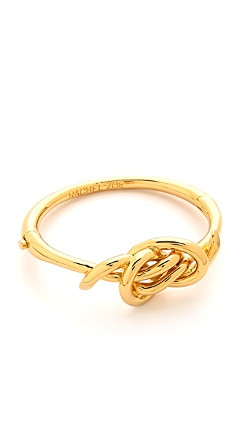 Rachel Zoe Love Me Knot Hinged Knot Bangle Bracelet