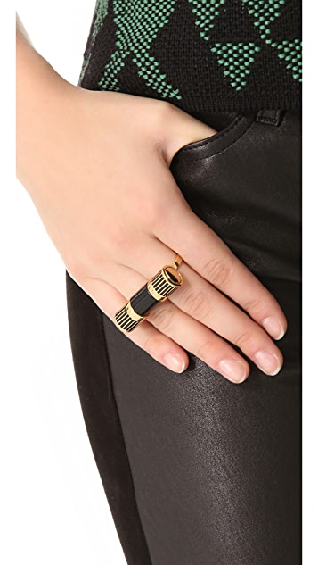 Rachel Zoe Beveled Barrel Multifinger Ring