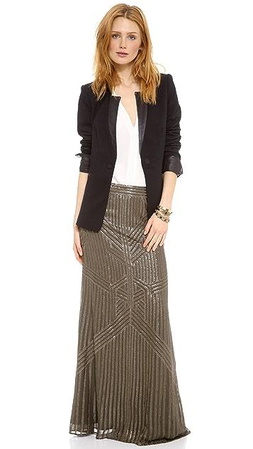 Rachel Zoe Pearl Sequin Fishtail Skirt