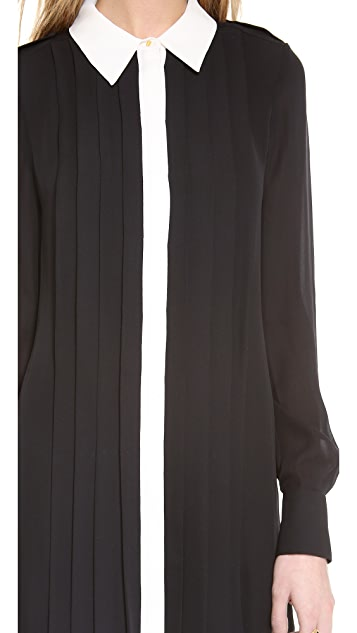 Rachel Zoe Laurel Pleated Shirt Dress