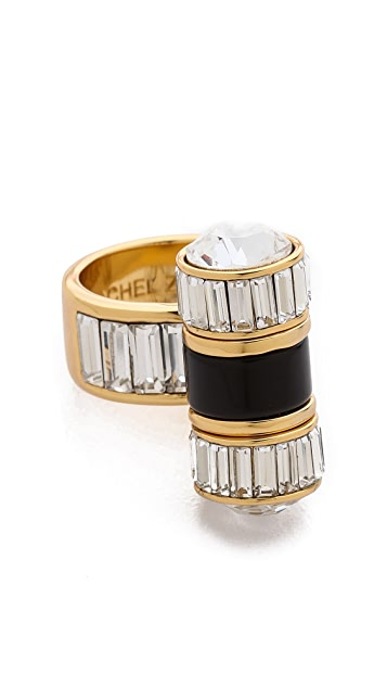 Rachel Zoe Single Barrel Baguette Ring
