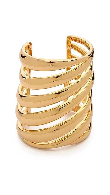 Rachel Zoe Safari Wide Cutout Cuff Bracelet