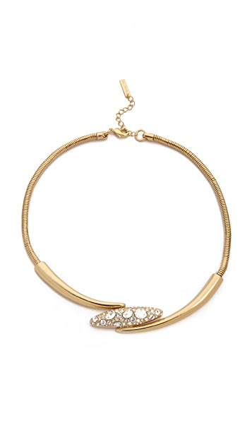 Rachel Zoe Pave Pod Collar Necklace